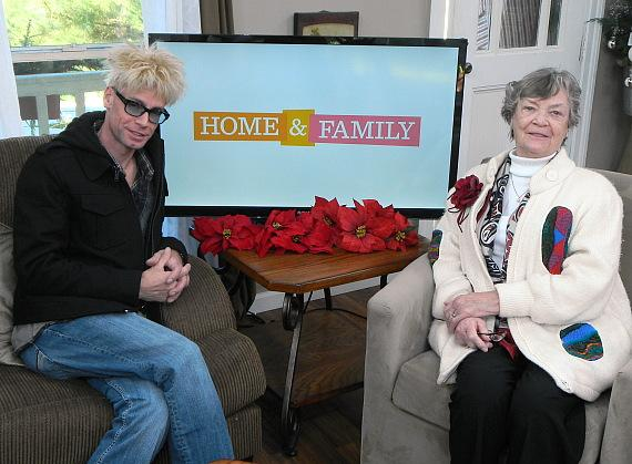 Murray and his mom Arlene backstage at Hallmark's Home & Family show