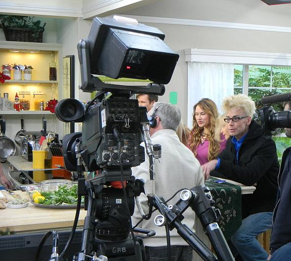 Murray on the set of Hallmark's Home & Family