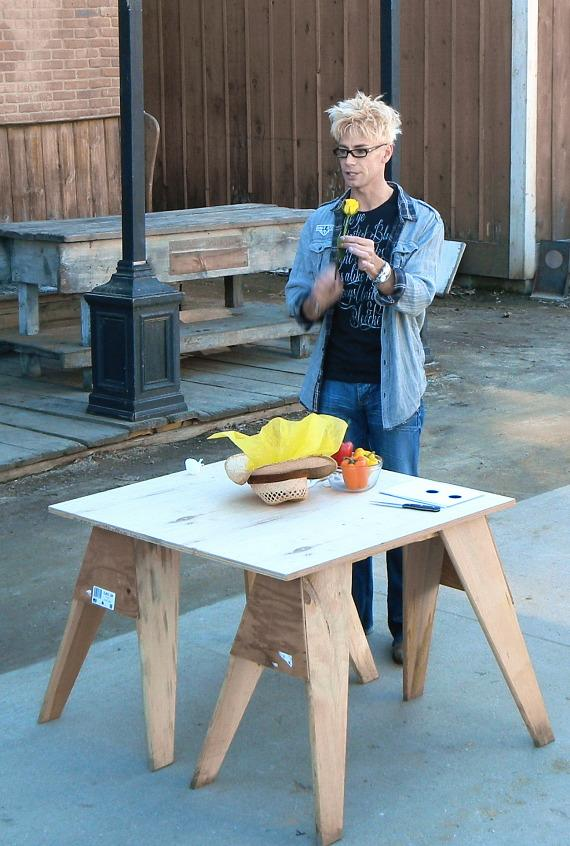 Murray SawChuck performs on the Western set on Hallmark's 'Home & Family'