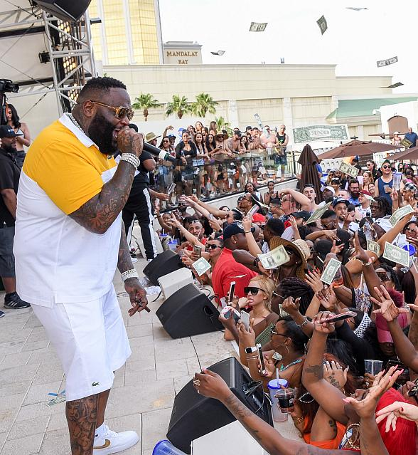 Ludacris and Rick Ross Perform at Daylight Beach Club in Las Vegas