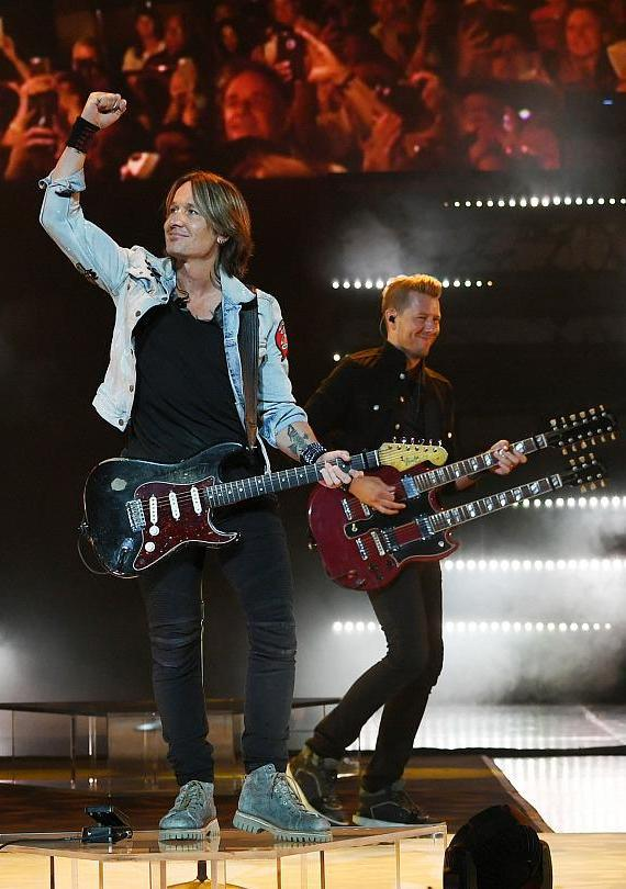 Keith Urban performs at The Colosseum at Caesars Palace in Las Vegas