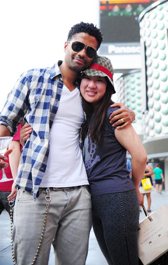Eric Benét and a fan who flew in from Japan to attend this interview and Eric's concert at House of Blues