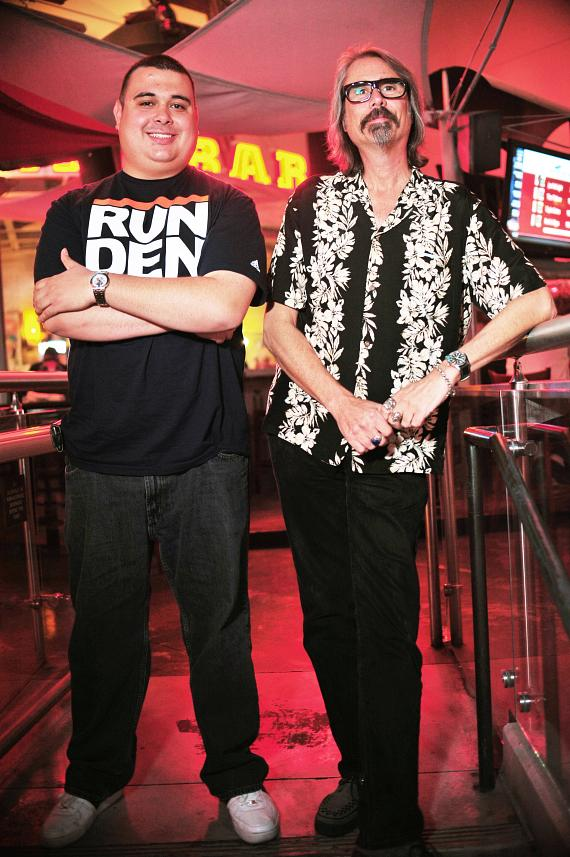 P. Moss and Robert Blasi at PBR Rock Bar in Las Vegas