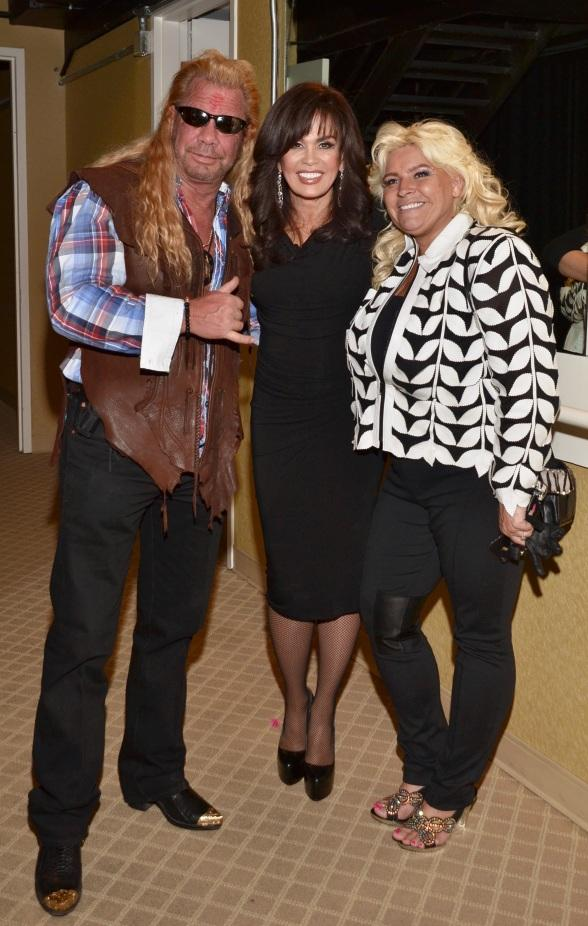 Dog the Bounty Hunter and wife Beth at Donny & Marie Show in Flamingo Las Vegas