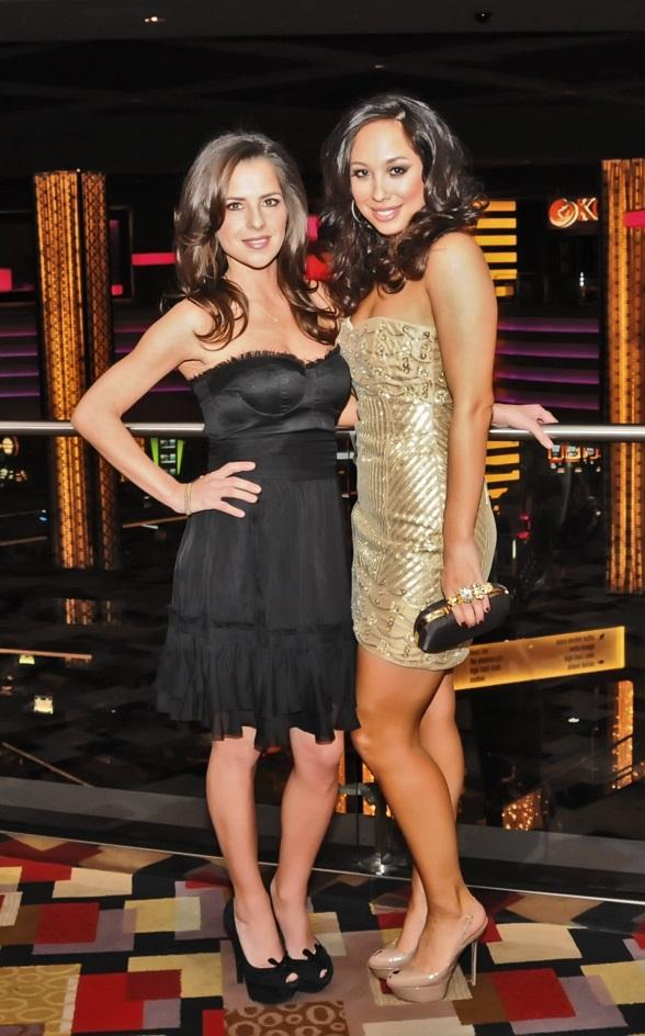 Kelly Monaco and Cheryl Burke on The Mezzanine of Planet Hollywood Resort & Casino