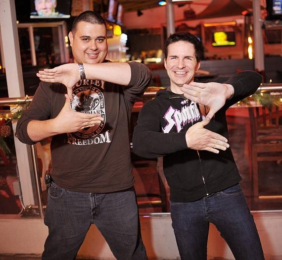 Robert Blasi and Hal Sparks at PBR Rock Bar