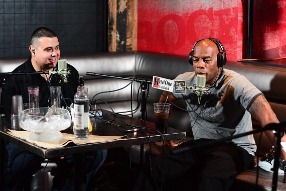Co-host Robert Blasi with Alonzo Bodden at PBR Rock Bar in Las Vegas