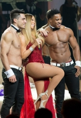 The Chippendales join Mariah Carey on stage at The Colosseum at Caesars Palace in Las Vegas