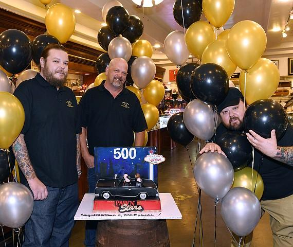 Rick Harrison, Corey Harrison and Chumlee at Gold & Silver Pawn in Las Vegas