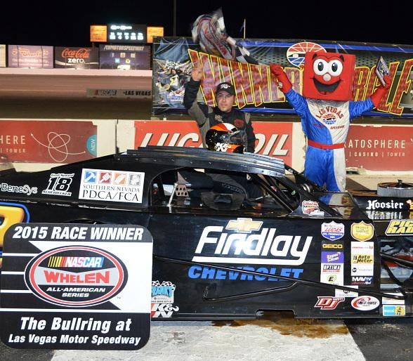 Mardis Victory Highlights Wild Night at The Bullring at Las Vegas Motor Speedway