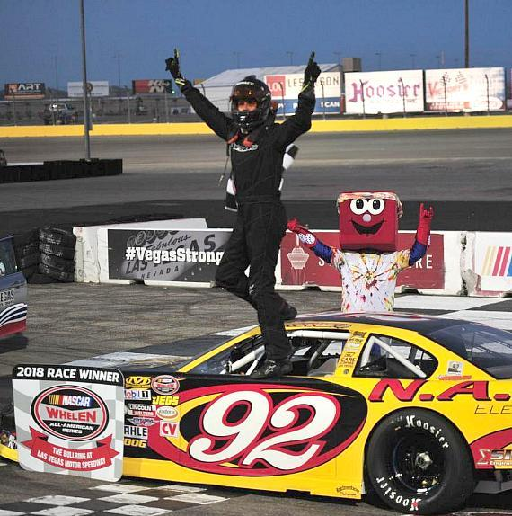 Points leader Jimmy Parker Jr. won the first NASCAR Super Late Models race on Throwback Night at The Bullring on Saturday.
