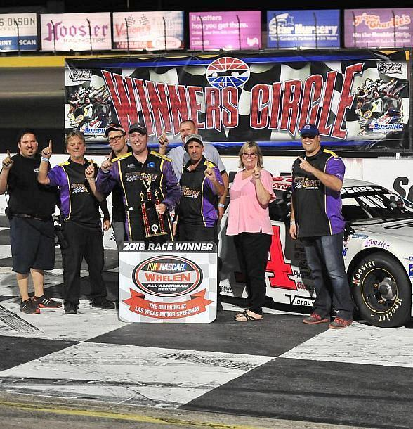 Chris Clyne and Jimmy Parker Jr. Trade NASCAR Super Late Model Wins on Throwback Night at Las Vegas Motor Speedway