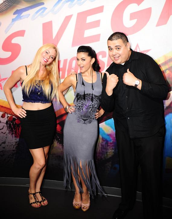 "Christina ""CC"" Christensen, Melody Sweets and Robert Blasi in Rockhouse Las Vegas"