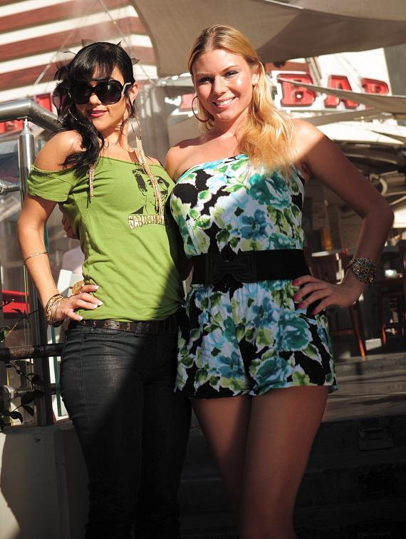 """Melody Sweets and Christina """"CC"""" Christensen at PBR Rock Bar in Las Vegas"""