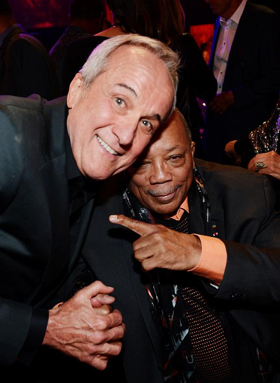 Keep Memory Alive Founder Larry Ruvo (L) and record producer Quincy Jones