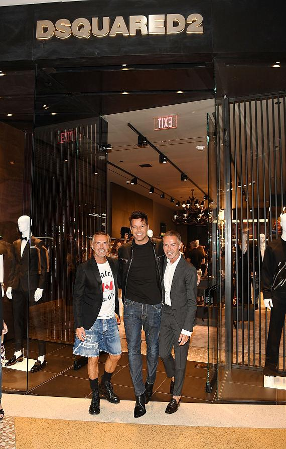 DSQUARED2 Grand Opening with Dan Caten, Ricky Martin and Dean Caten