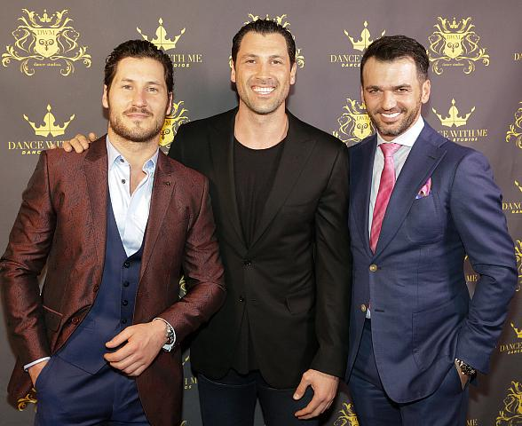 Dancing with the Stars pros Maks Chmerkovskiy, Val Chmerkovskiy & Tony Dovolani celebrate the Grand Opening of