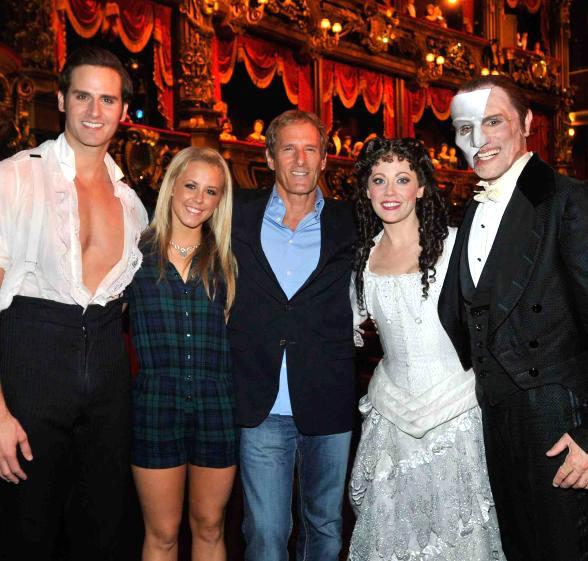 DWTS Couple with Phantom Cast