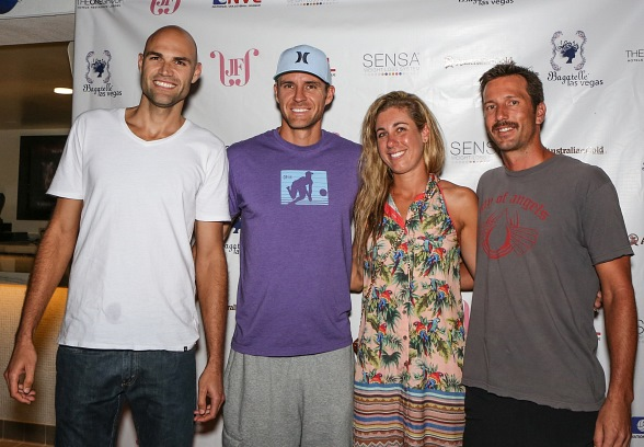 Phil Dalhausser, Jake Gibb, April Ross and Sean Rosenthal