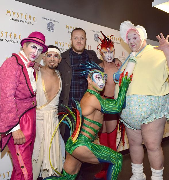Imagine Dragons' Dan Reynolds at Mystère by Cirque du Soleil