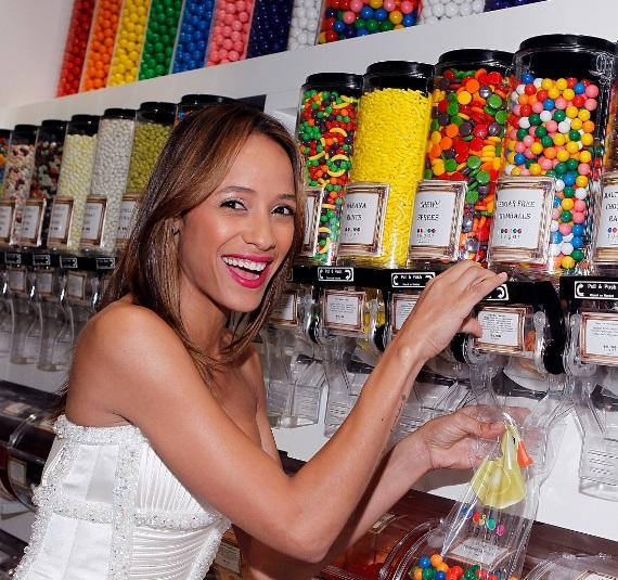 Dania Ramirez shopping for sweets at Sugar Factory at Paris Las Vegas