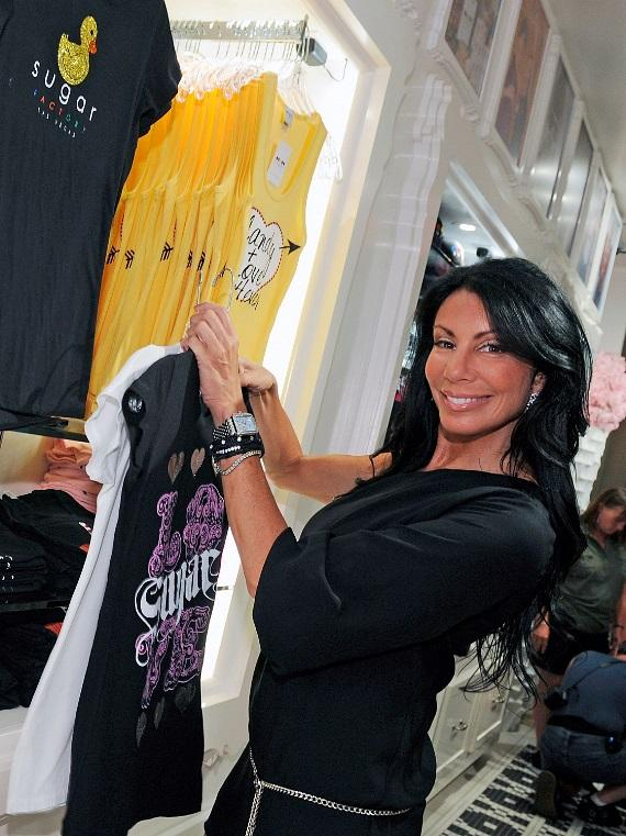 Danielle Staub shops in the Sugar Factory retail store at Paris Las Vegas