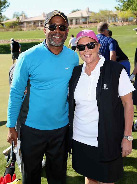 Darius Rucker and ACM Lifting Lives Board Chair Gayle Holcomb