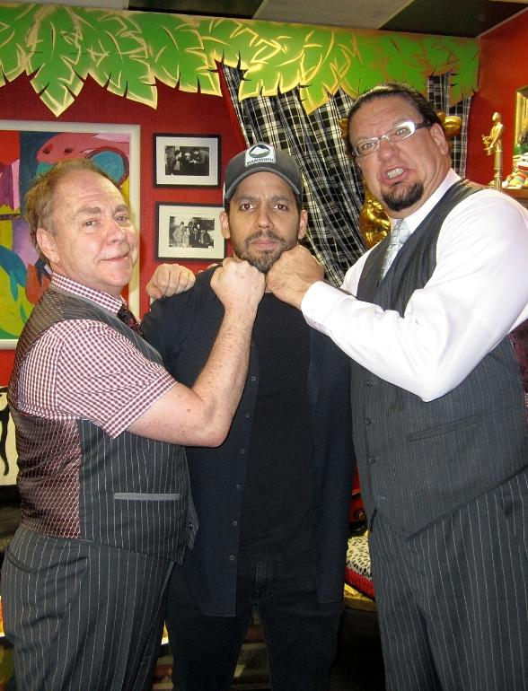 Magician David Blaine and DJ Paul of Three 6 Mafia Attend Penn & Teller at Rio All-Suite Hotel & Casino