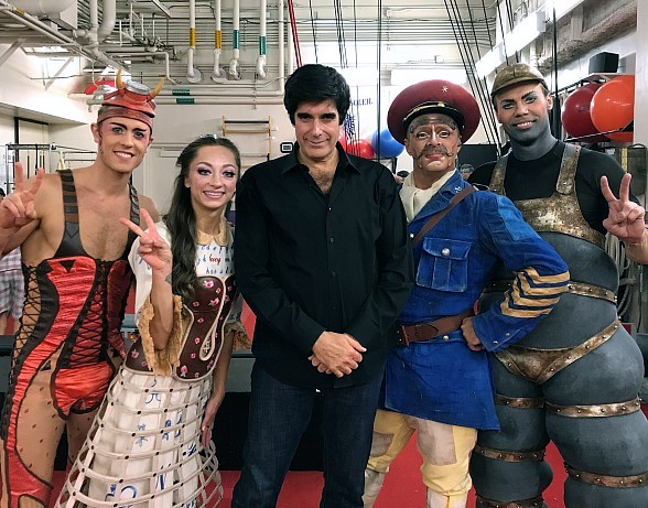 "Illusionist David Copperfield Celebrates Birthday at ""The Beatles LOVE by Cirque du Soleil"" at The Mirage Hotel & Casino in Las Vegas"