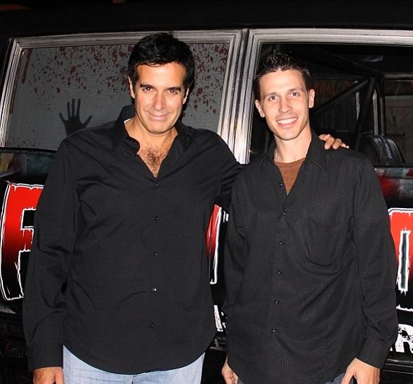 David Copperfield and Fright Dome owner Jason Egan