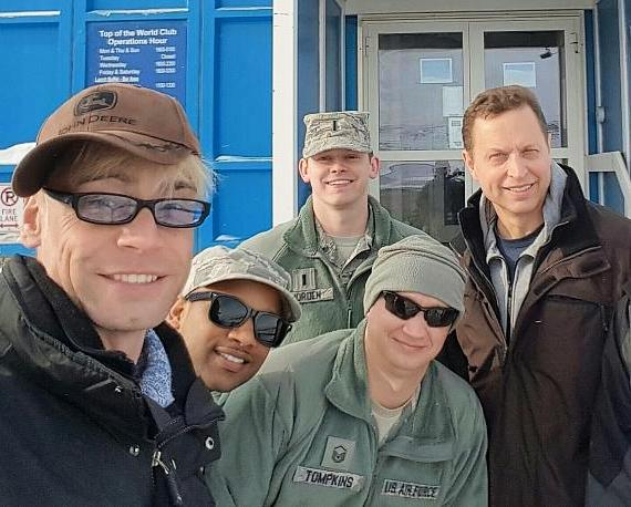 David Chandler and Murray SawChuck in Greenland on USO Tour