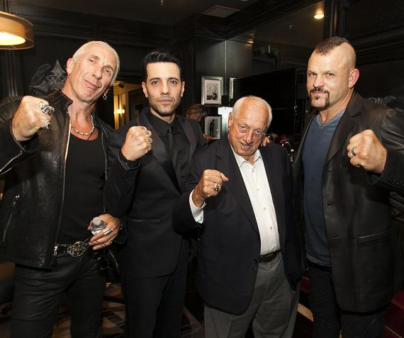 "Dee Snider, Criss Angel, Tommy Lasorda and Chuck Liddell at Criss Angel ""HELP"""