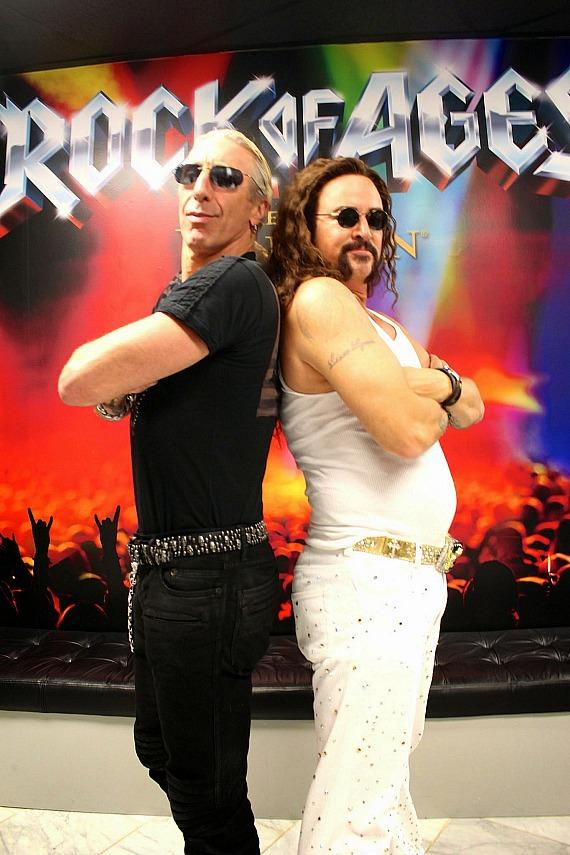 Dee Snider with Troy Burgess of Rock of Ages Las Vegas