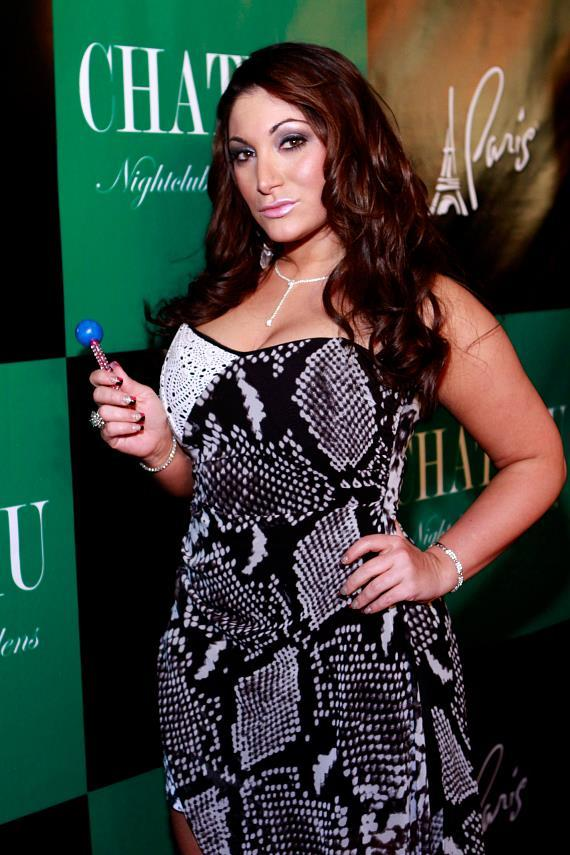 Deena Nicole Cortese walks the red carpet at Chateau Nightclub & Gardens at Paris Las Vegas