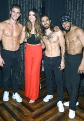 "Australian Singer and Coach of The Voice Australia Delta Goodrem Stops by ""Magic Mike Live"" Inside the Hard Rock Hotel & Casino in Las Vegas"