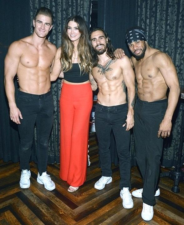 "Australian Singer and Coach of the Voice Australia Delta Goodrem Stops by ""Magic Mike Live Inside the Hard Rock Hotel & Casino in Las Vegas"