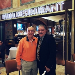 Famed Sportscaster Dick Vitale Stops by The Palm Restaurant of Las Vegas