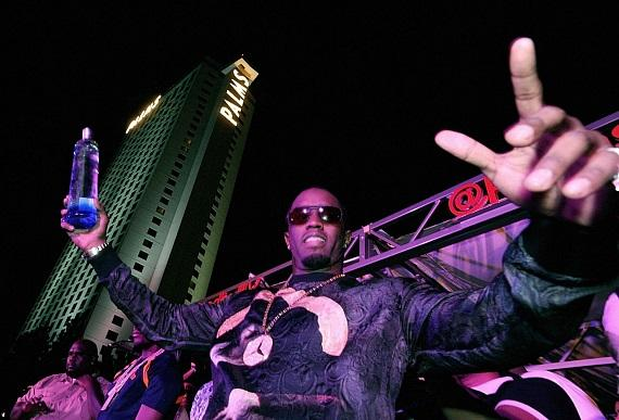 Diddy entices thousands of Fight Night revelers with Ciroc Vodka at Palms Pool inside Palms Casino Resort in Las Vegas