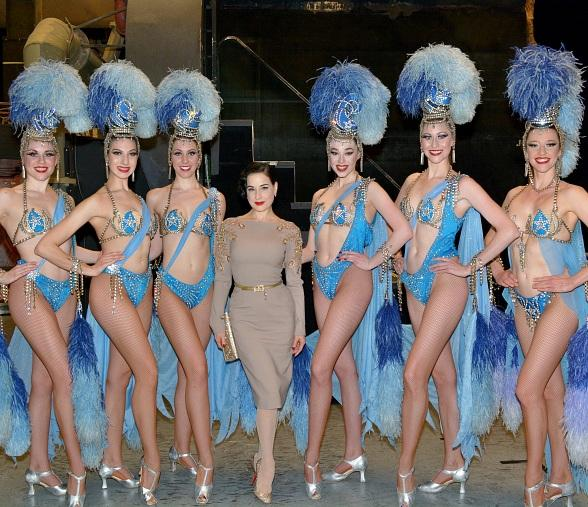 Dita Von Teese attends Jubilee at Bally's Las Vegas