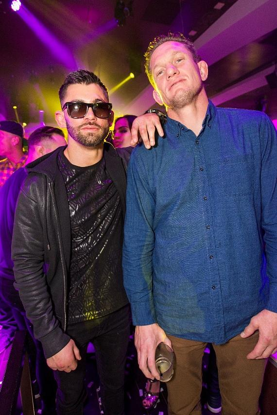 Dominick Cruz and Seth Baczynski at Hyde Bellagio