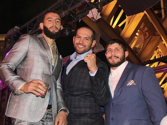 Dominick Reyes and Joe Daddy Stevenson on right