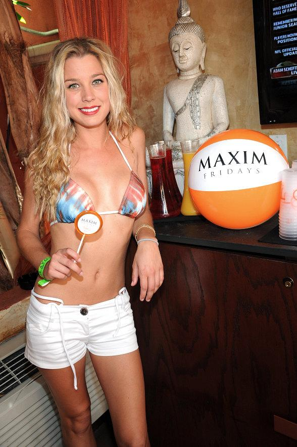 Dominique Storelli at TAO Beach on Maxim Friday