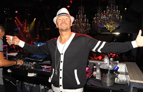 Donnie Wahlberg inside Chateau Nightclub & Gardens