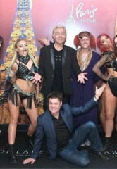 "Donny Osmond Visits ""Inferno"" at Paris Las Vegas"