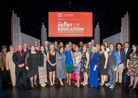Dr. Jill Biden and The Smith Center executive team with the 2017 Heart of Education Awards winners, April 29