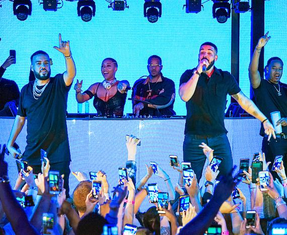 Drake Performs at Marquee with French Montana