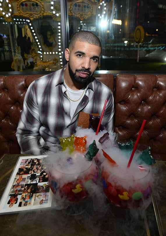 Drake tries new Night Owl Goblet made with Virginia Black Whiskey