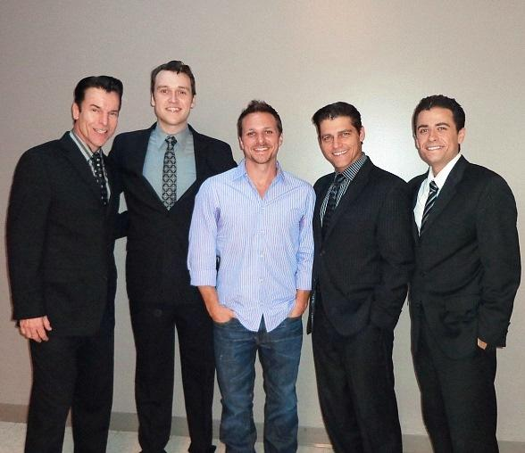 Douglas Crawford, Rob Marnell, Drew Lachey, Deven May, Graham Fenton