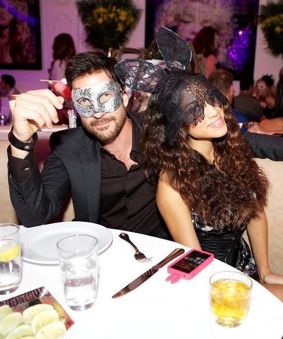 Dylan McDermott dining at Bagatelle Beach & Supper Club