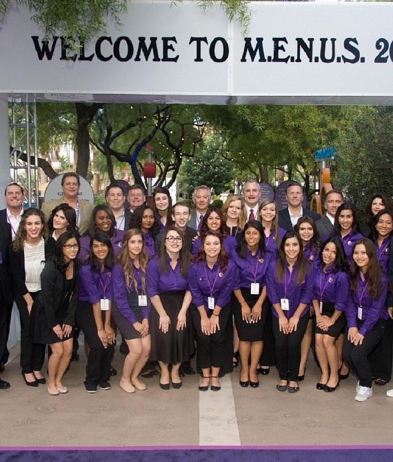 ECF board members and students gather before M.E.N.U.S 2014